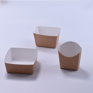 Customized Take Away Kraft Paper Food Box for French Fires Chips