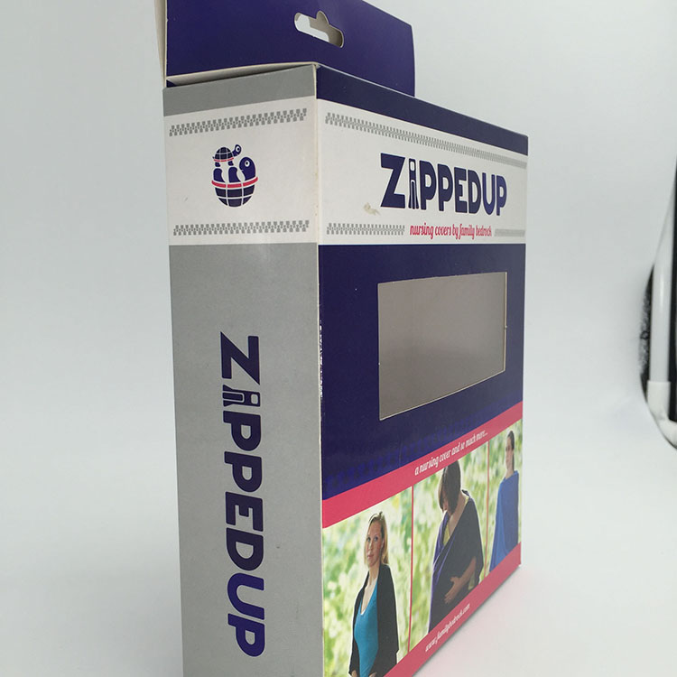 Customization of White Paperboard Glossy Lamination Zip Box